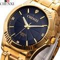 2017 CHENXI Золотые Часы Мужчины Известный Лучший Бренд Класса Люкс Кварцевые Наручные Часы Мужчины Золотые Часы Кварцевые Часы Relogio Hodinky Masculino