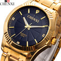 2017 CHENXI Gold Watch Men Famous Top Brand Luxury Quartz Wrist Watches Men Golden Clock Quartz-Watch Hodinky Relogio Masculino
