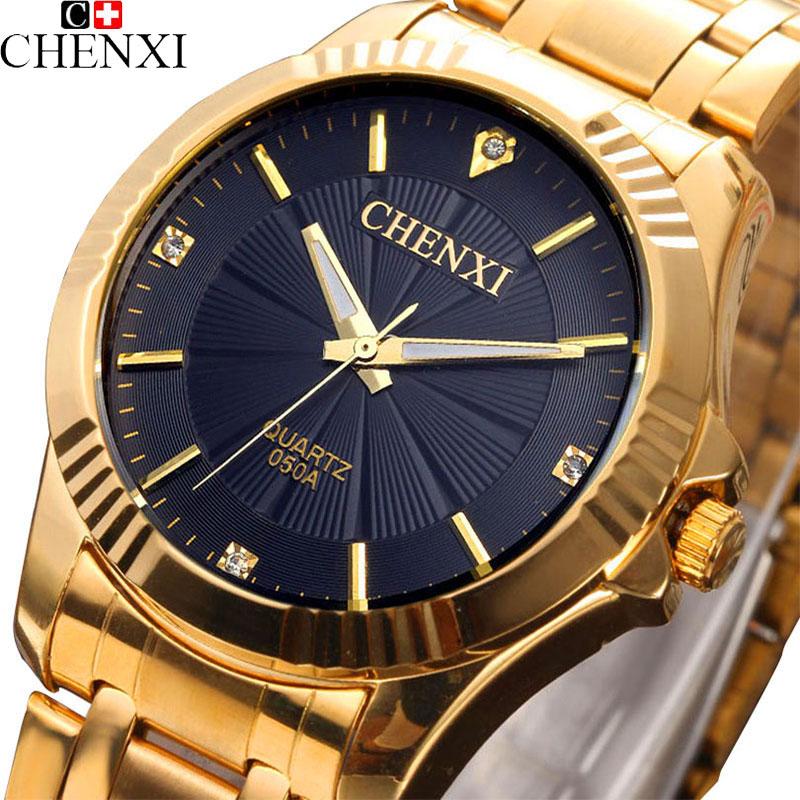 Prix pour 2017 chenxi montre en or hommes célèbre top marque de luxe bracelet à quartz montres hommes d'or horloge à quartz-montre hodinky relogio masculino