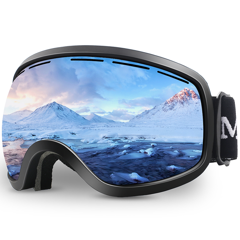 JULI Snow Goggles Winter Snow Sports UV Protection for Men Women mask Snowboard Over Goggles with Anti fog Snowmobile Goggle M3