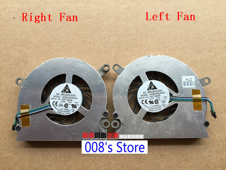"""Left Right Cooling Fan Cooler for Apple Macbook Pro 15/"""" A1211 A1226 A1260"""