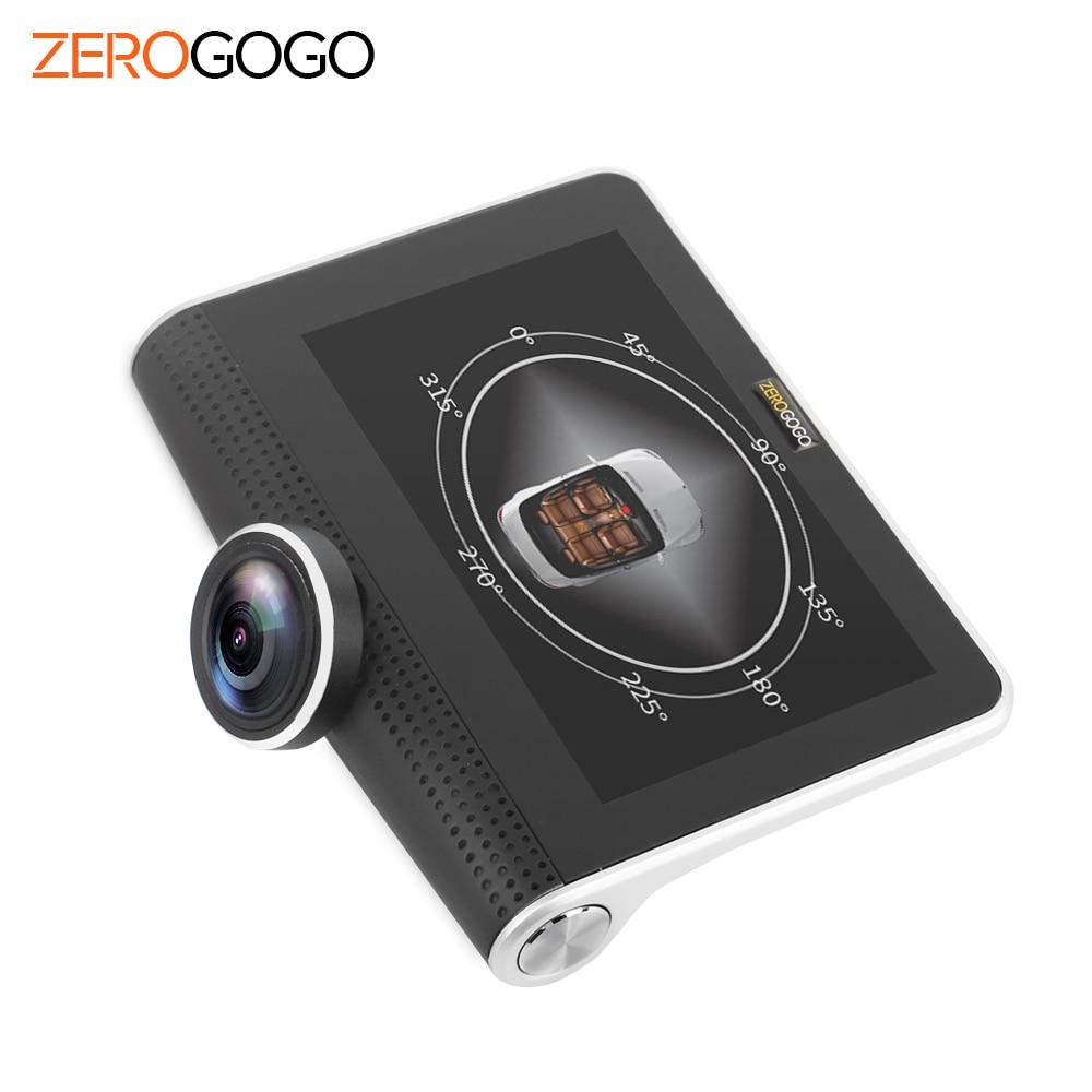 zerogogo car dvr 360 degree panoramic recorder car camera dash cam black box full hd 1080p 4 5. Black Bedroom Furniture Sets. Home Design Ideas