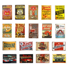 Route 66 Vintage Metal Tin Sign Poster for Coffee House Pub Bar Living Room Garage Plaque(China)