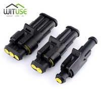 TSLEEN Drop Shipping 10x 1/2/3/4/5/6 Pin sellado de vía de coche impermeable Cable eléctrico conector Auto Kit de enchufe para coche Motorcyle