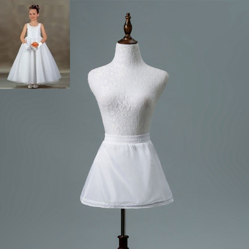 E JUE SHUNG 1 Hoop Girls Short Dress Petticoat Girls Underskirt Lolita Petticoat Ballet Tutu Skirt Rockabilly Crinoline