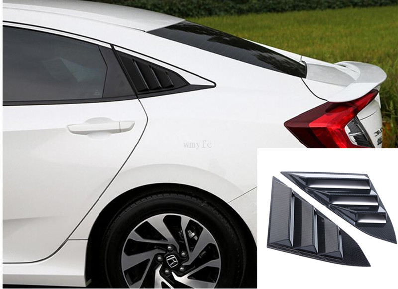 Auto Accessories Rear Quarter Panel Side Vent Window Louver For Honda Civic 2016 2017 Sticker Car Styling 2 In Chromium From Automobiles