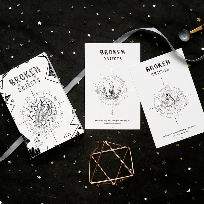 30sheets/LOT Broken Objects Postcard /Greeting Card/Wish Card/Christmas And New Year Gifts Cards