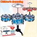 Kit conjunto de tambores de brinquedo instrumento musical brinquedo da música de som terno simulação crianças drum kit toys educacional classic toys