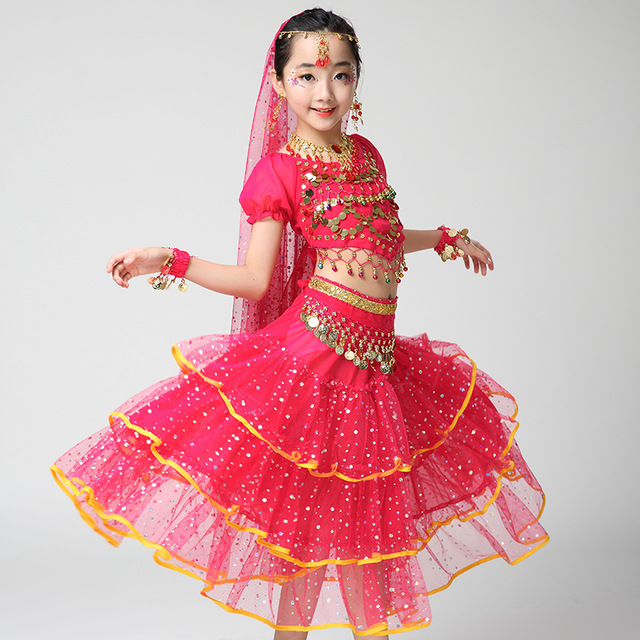 Children Dancewear Kids Professional Belly Dance Costume Girls Egypt