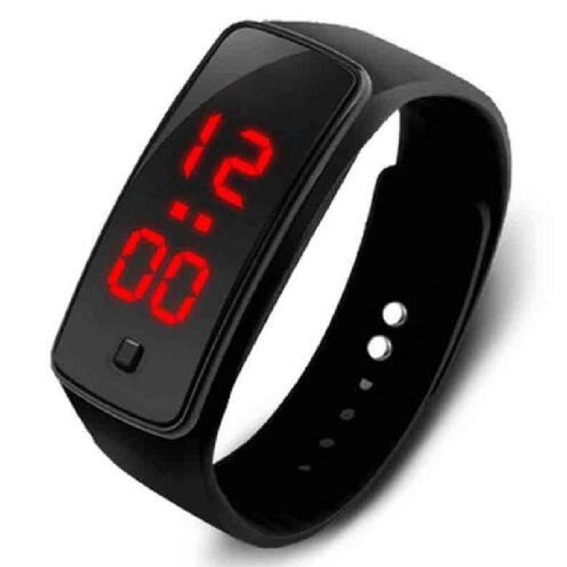 2019 New Fashion LED Sports Running Watch Date Rubber Bracelet Digital Watch Sports Watch Womens Mens Fitness Zegarek Damski