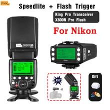 Pixel X800C PRO GN60 ETTL FSK 2.4GHz Radio Wireless HSS Flash Speedlite+King Pro Trigger Transmitter for Canon DSLR camera