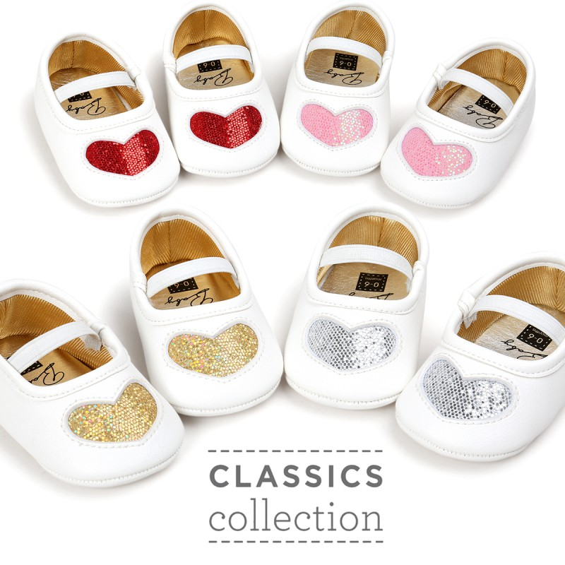 Autumn Spring Fashion Shoes New Lovely PU Soft Bottom Baby Girl Princess Shoes 0-18M