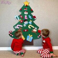 FENGRISE DIY чувствовал елки Дети искусственного елочные украшения елки Подставка для украшений подарки Новый год рождественские украшения елка