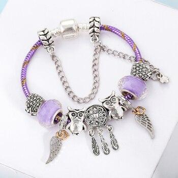 Bracelet attrape rêve de charme personnalisable 1