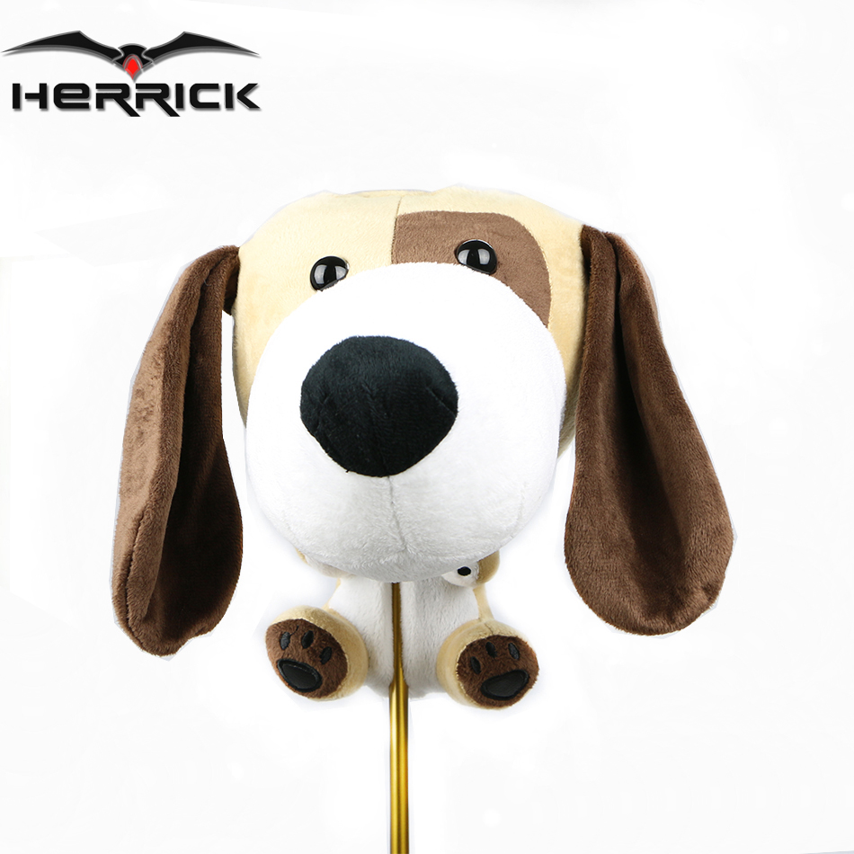 Golf club HeadCover NO 1 driver covers Big ears dog Animal wood Headcover free shipping