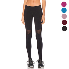 High Waist Women Yoga Pant Fitness Sexy Solid Leggings Mesh Patchwork Pencil Sport Capris Running Quick Dry Workout Slim Trouser