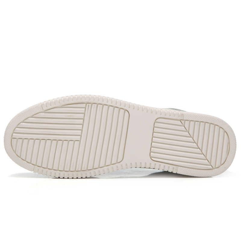 Mùa xuân Mới Phụ Nữ Giày Phẳng Nền Tảng Giày Thường Giày Da Nữ Thời Trang Cổ Điển Trắng Vải Giày Tăng Cô Gái Cộng Với Kích Thước