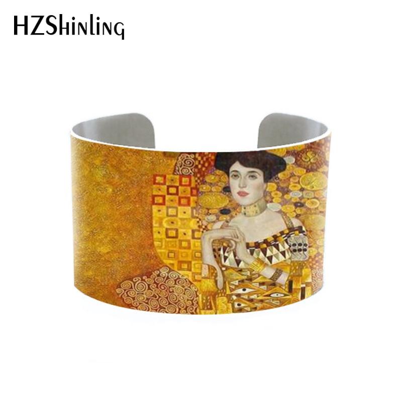 Art Parodies- Klimt cuff The Kiss on Pinterest Klimt bangle by Gustav Klimt aluminium handmade bracelet art print bangle