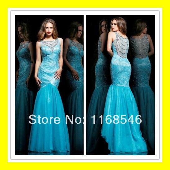 Aliexpress.com : Buy Rental Prom Dresses Cheap Mermaid Peacock ...