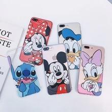 Cartoon Stich Stitch Minnie Mickey Donald Daisy Duck Case for IPhone XS MAX case Iphone 7 plus XR 8 Coque