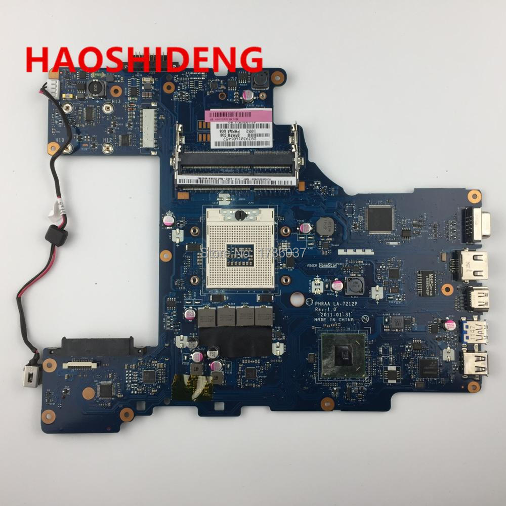K000128610 LA-7212P for Toshiba Satellite P770 P775 series Laptop Motherboard .All functions fully Tested ! free shipping for toshiba satellite p700 p740 p745 laptop motherboard k000123400 la 7101p all functions 100% fully tested