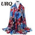 2016 Весна Зима шарф женщины мода длинные Écharpe Цветок печатных шарфы палантины Дамы теплые платки хиджаб V8A18442