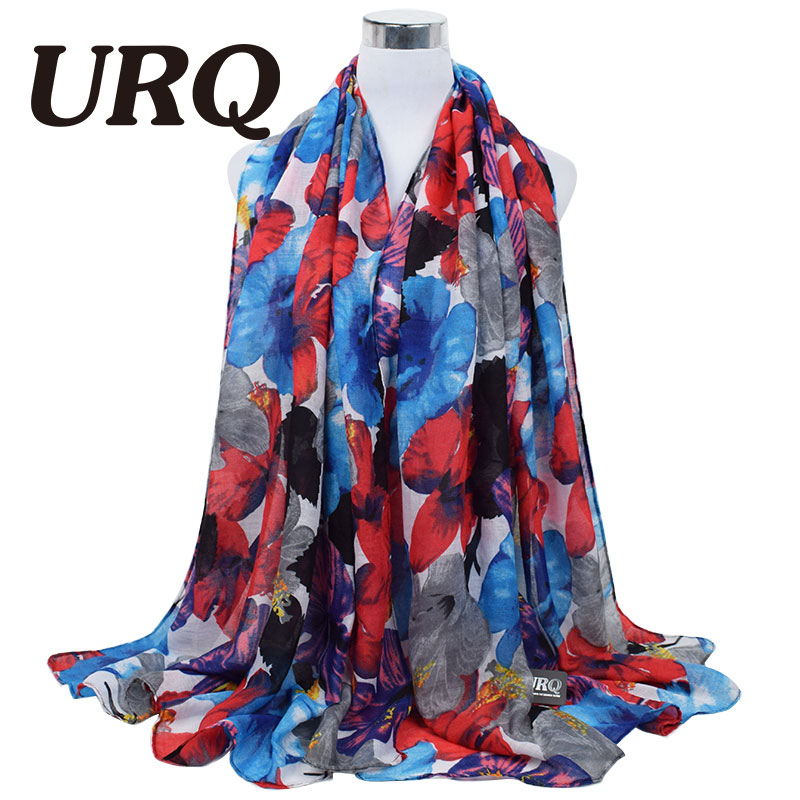 2016 Spring Winter scarf women fashion long Echarpe Flower printed scarves Ladies...