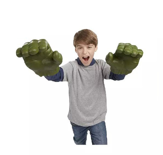 все цены на 2017 New Movie Marvel Avengers Hulk Action Figure PVC Light Mask Hulk Gloves Model Toy Collection Decoration Kids Toys Gift онлайн