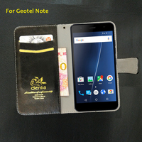 TOP New Geotel Note Case 5 Colors Flip Luxury Leather Case Exclusive Phone Cover Credit Card