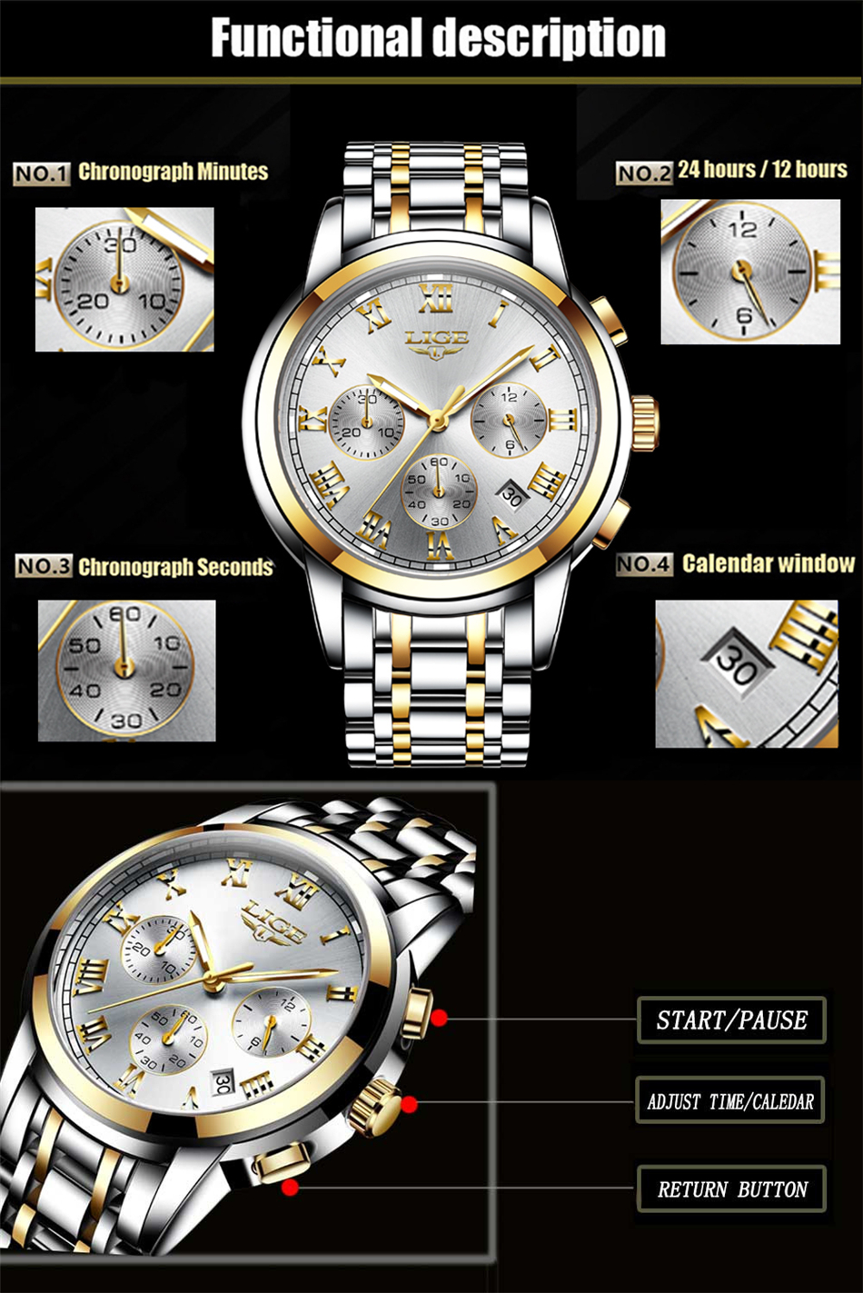 HTB146mce.uF3KVjSZK9q6zVtXXa5 LIGE Men Watches Top Luxury Brand Full Steel Waterproof Sport Quartz Watch Men Fashion Date Clock Chronograph Relogio Masculino