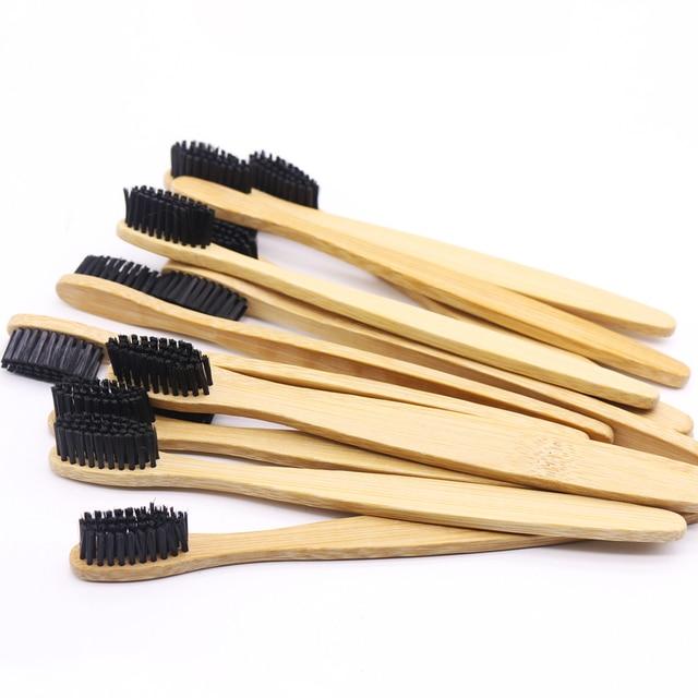 DR.PERFECT 100 ピース/ロット 3 色毛木製ソフト環境にやさしい竹歯ブラシソフト毛木製ハンドル