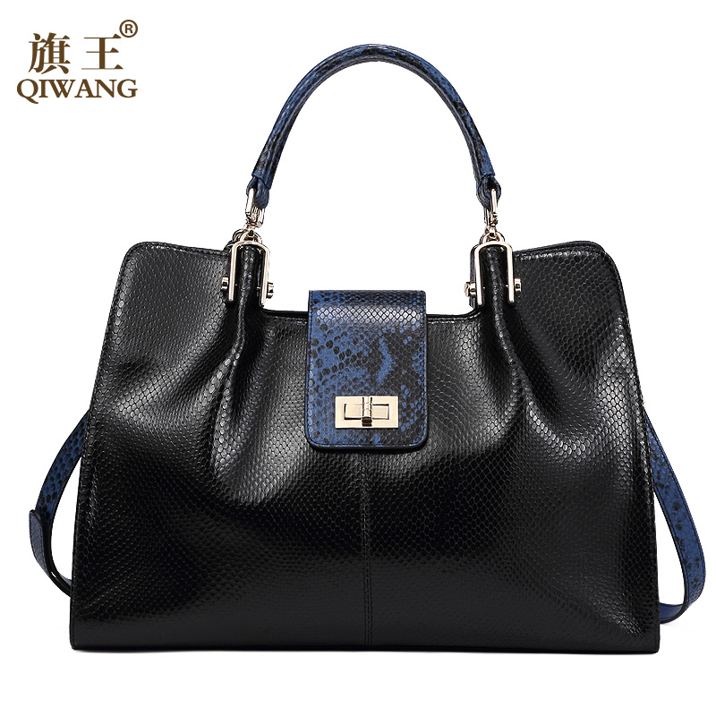 QIWANG Women Design Bag Brand Designer Luxury Women Fashion Handbag Bags Fashion Luxury OL Tote Bag for Office Women crocodile retro women bag luxury women design fashion retro leather tote handbag solid bucket bag design fashion bags