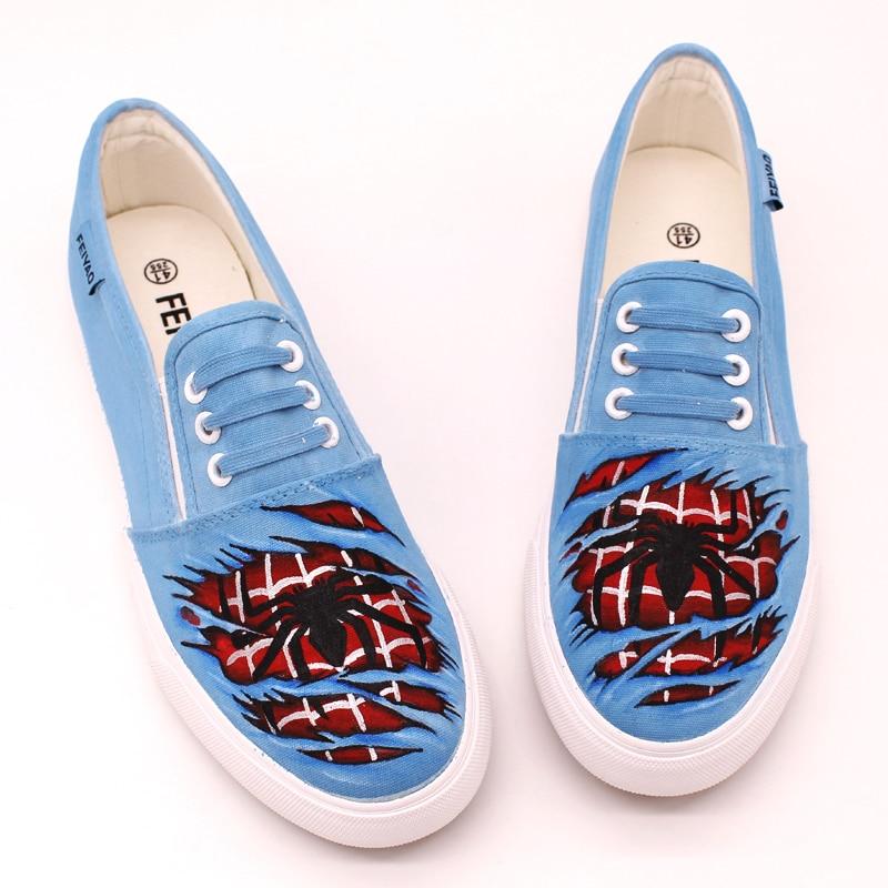 spider man shoes autumn canvas shoes