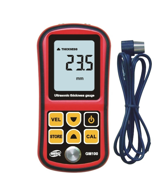 Pro Digital Ultrasonic Thickness Meter Tester Gauge Metal Testing 1.2-220mm exploit high precision 0 01mm profession digital lcd display thickness gauge meter paper leather fabric thickness tester