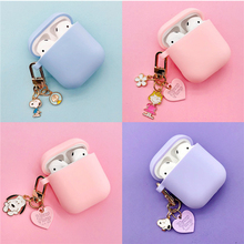 Cute Cartoon Dog Silicone Case for Apple Airpods Cover Accessories Bluetooth Earphone Headphones Protective Decor Key Ring