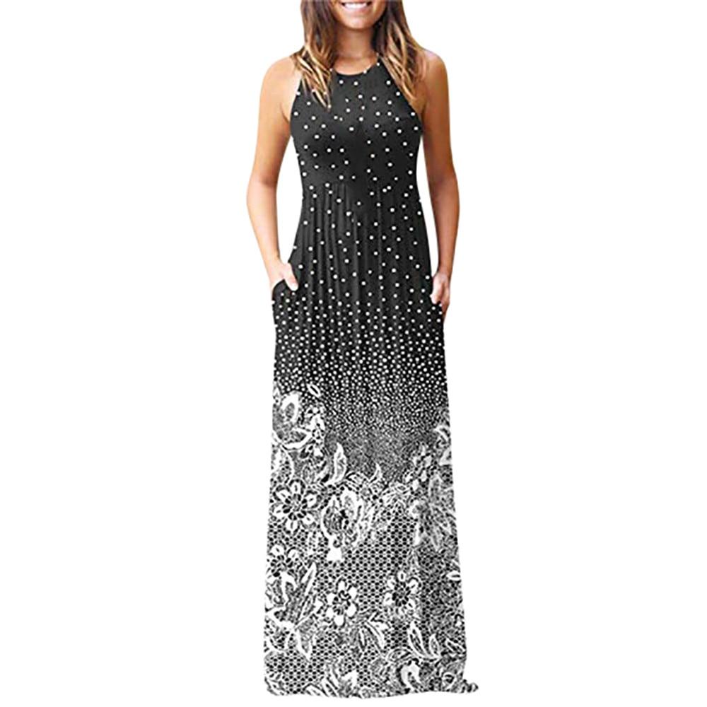 a3b132bf7c5a9 US $10.77 Wipalo 2019 Women Summer Party Maxi Dress Bohemian Tie Dye ...