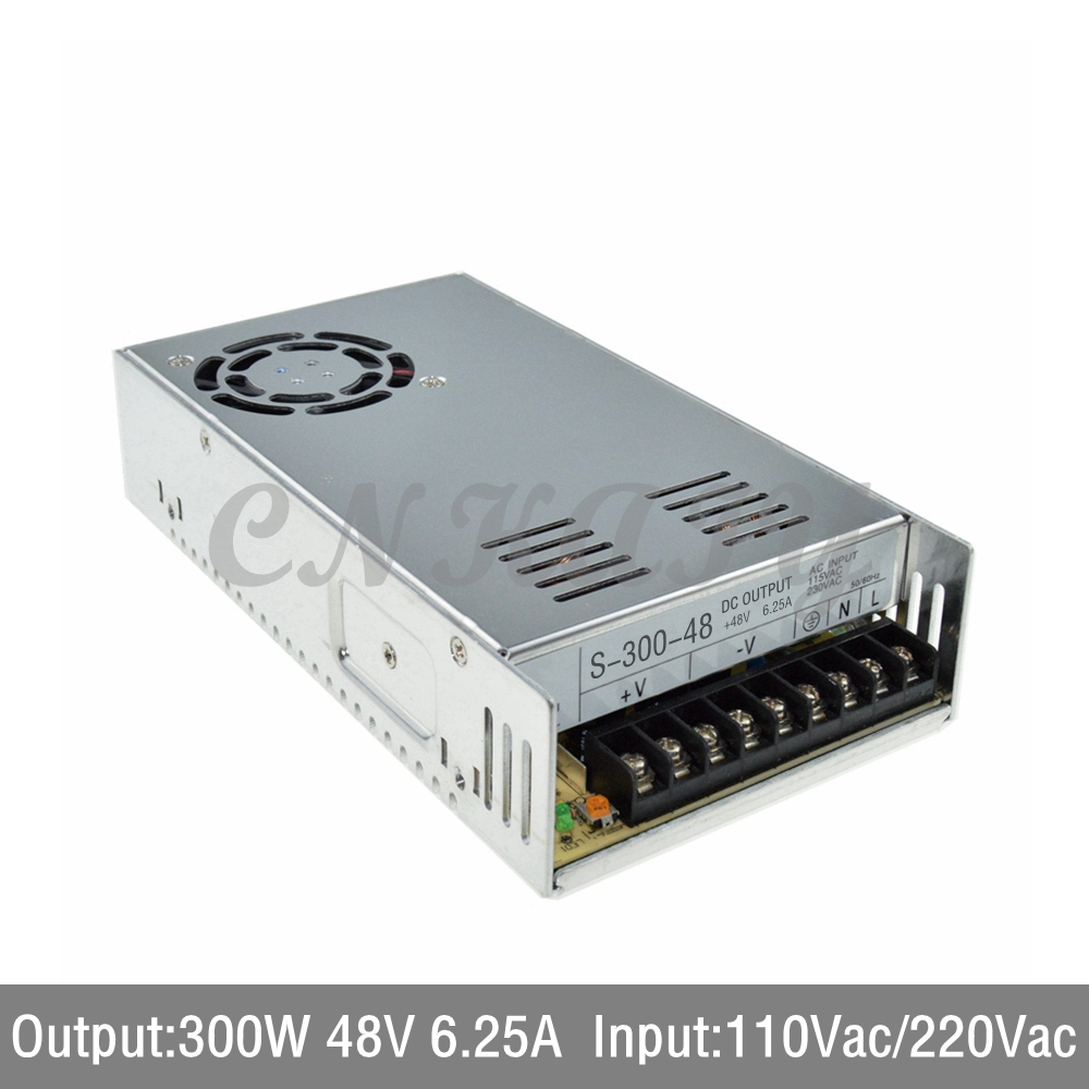 3 PCS AC110/ 220V to 300W 48Vdc 6.25A LED Driver single output Switching power supply Converter for LED Strip light via express 1200w 48v adjustable 220v input single output switching power supply for led strip light ac to dc