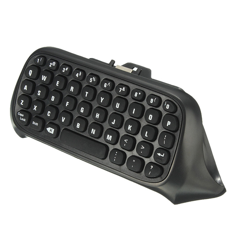 47 Keys Mini Wireless Chatpad Message Keyboard 2.4G USB Keypad for XBOX ONE Game Controller Wireless Keyboard Black/White