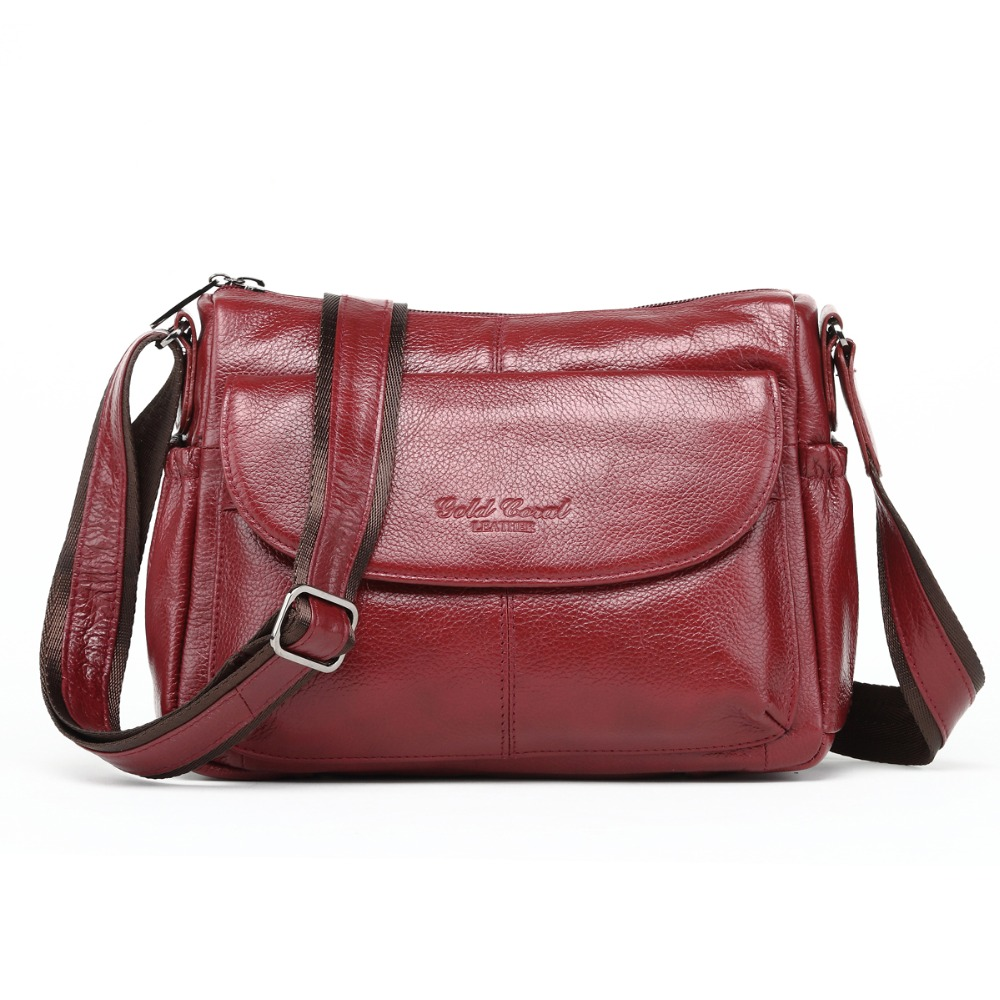 2018 Fashion Female Shoulder Bag Genuine Leather Luxury Handbags Women Bags Designer Ladies Crossbody Messenger Bags Sac a Main wildo fold a cup
