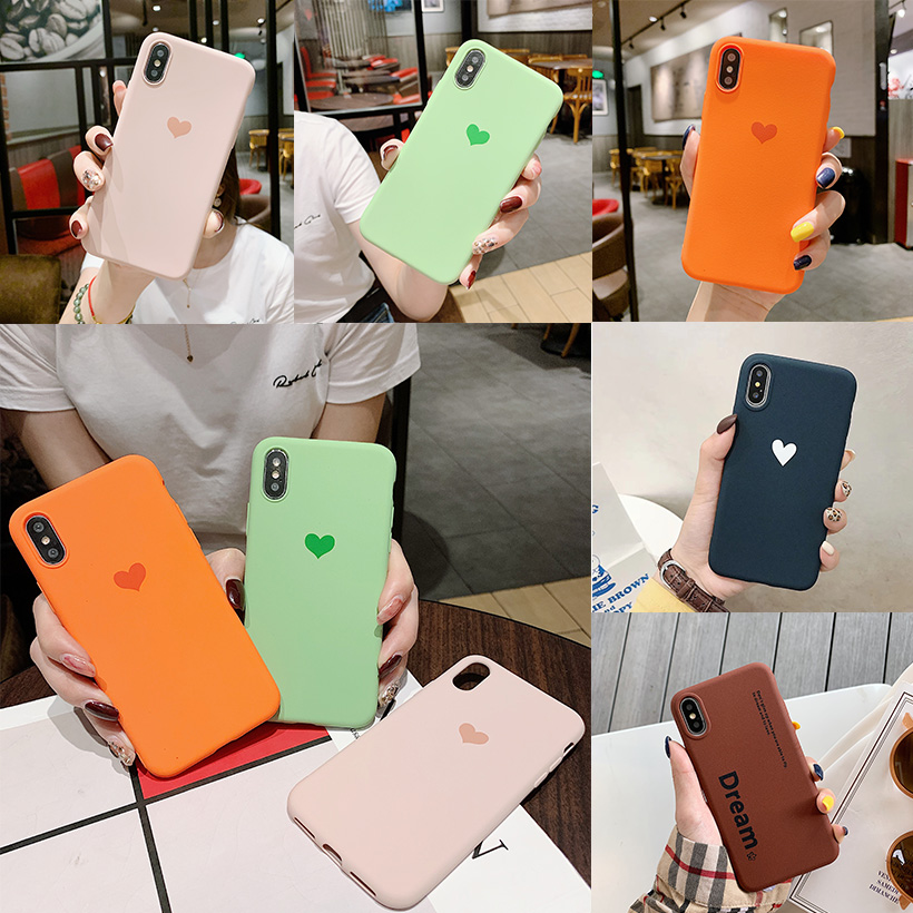Silicon <font><b>Case</b></font> for <font><b>Vivo</b></font> Y97 Y95 Y93 Y91 U1 V9 Y85 Y83 Y81S Y79 V7 Plus Y75 Y75S Y71 Y67 V5 Y66 Y55 <font><b>Y53</b></font> Y51 Love Heart Phone <font><b>Case</b></font> image
