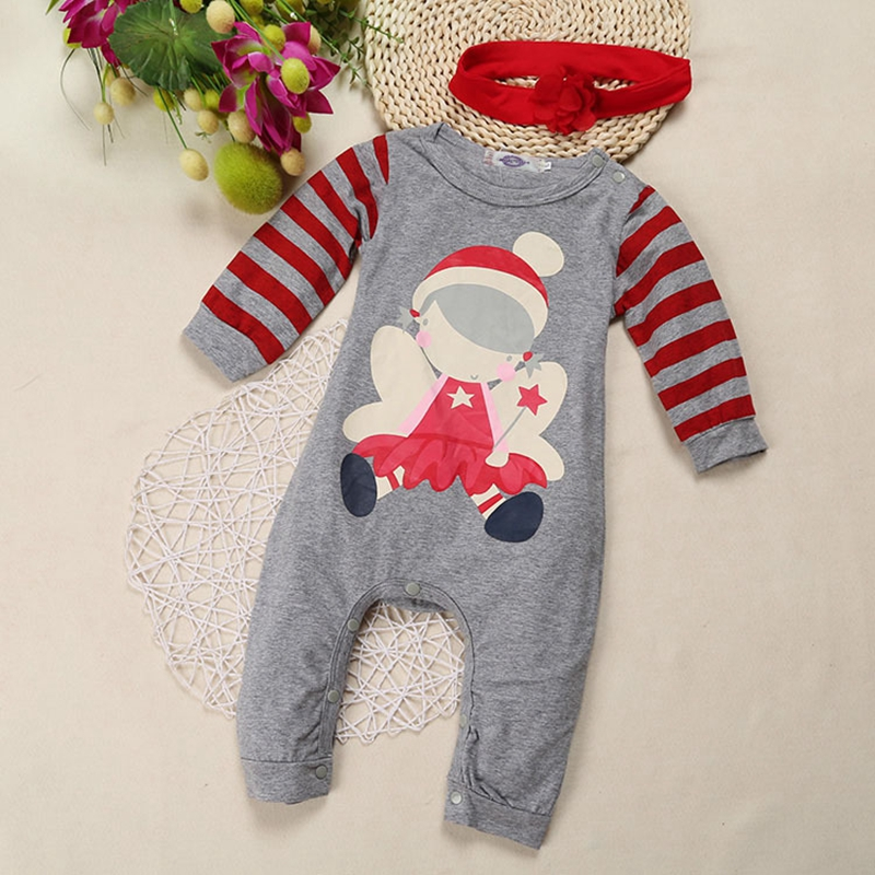 Baby Boy Baby Girl Santa Claus suit New Year 's long - sleeved Baby Rompers for Chritmas