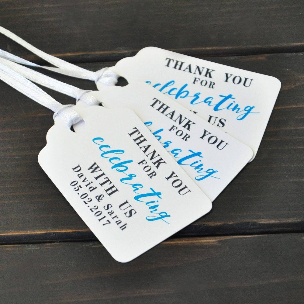 Personalized Wedding Favors Personalised White Kraft Tags Custom Gift Thank You 50 100pcs In Party Diy Decorations
