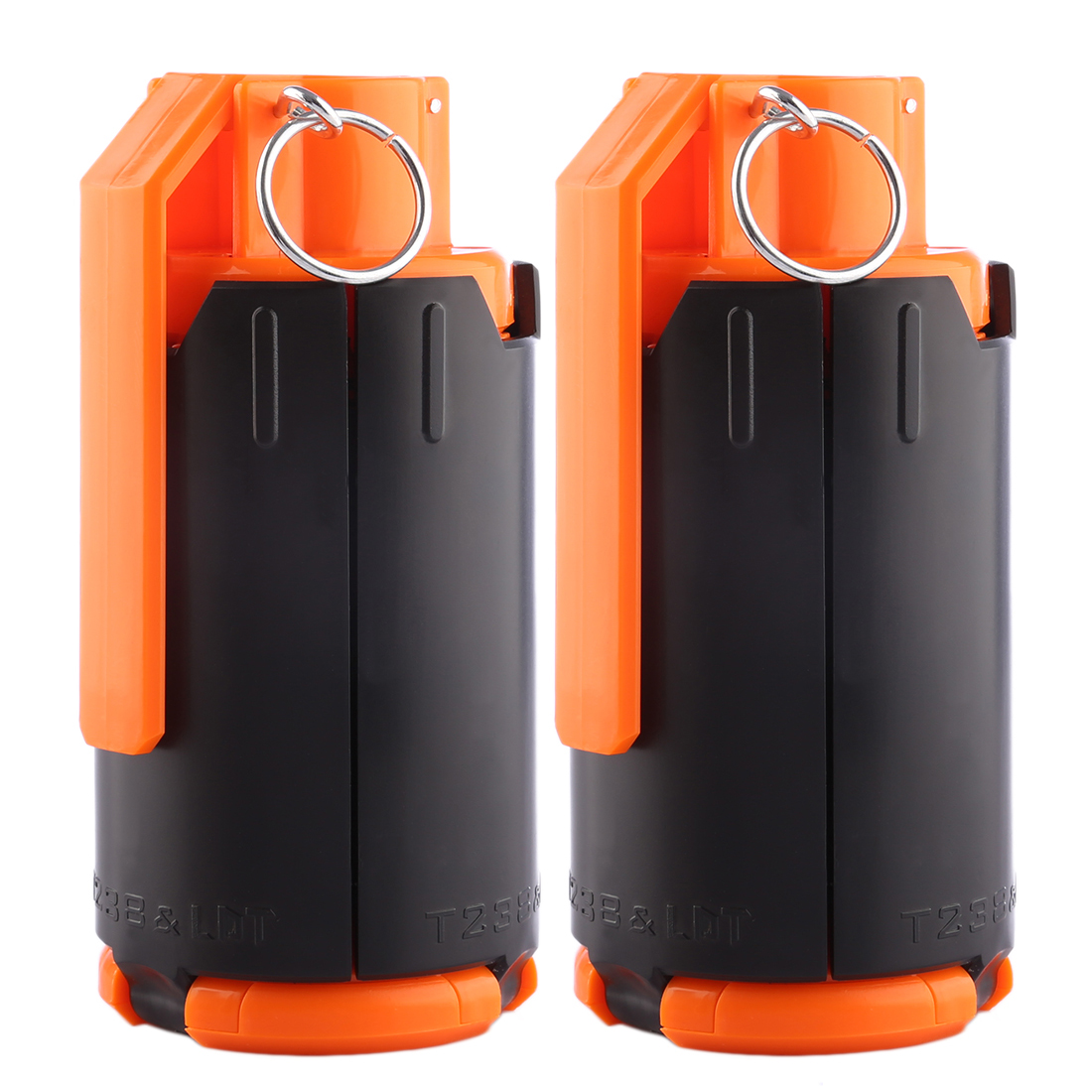 2pcs/set Toys Tactical Plastic Modified Crystal Water Beads Bomb Bullet Black+Orange Outdoor Hot Sale