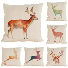 beauty Nordic orange creative run jump elk wedding gift cushion cover wholesale gift home sofa decorative festival pillow case