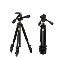 New QZSD Q470 Alu alloy camera tripod 4 sections 3D head load bearing 10KG video recorder professional tripod for DSLR camera