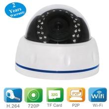 Wanscam HW0031 1 MP Cámara Domo de Infrarrojos de Seguridad Ip Inalámbrica Wifi Cámara de Interior del IP con La Visión Nocturna/Tf ranura