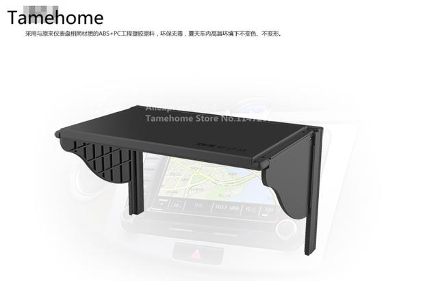 Palas para o sol Multiuso Flexível Prático Car Sun Sombra Escudo Luz de Navegação GPS Tela LCD Capô Auto Patente Proteger