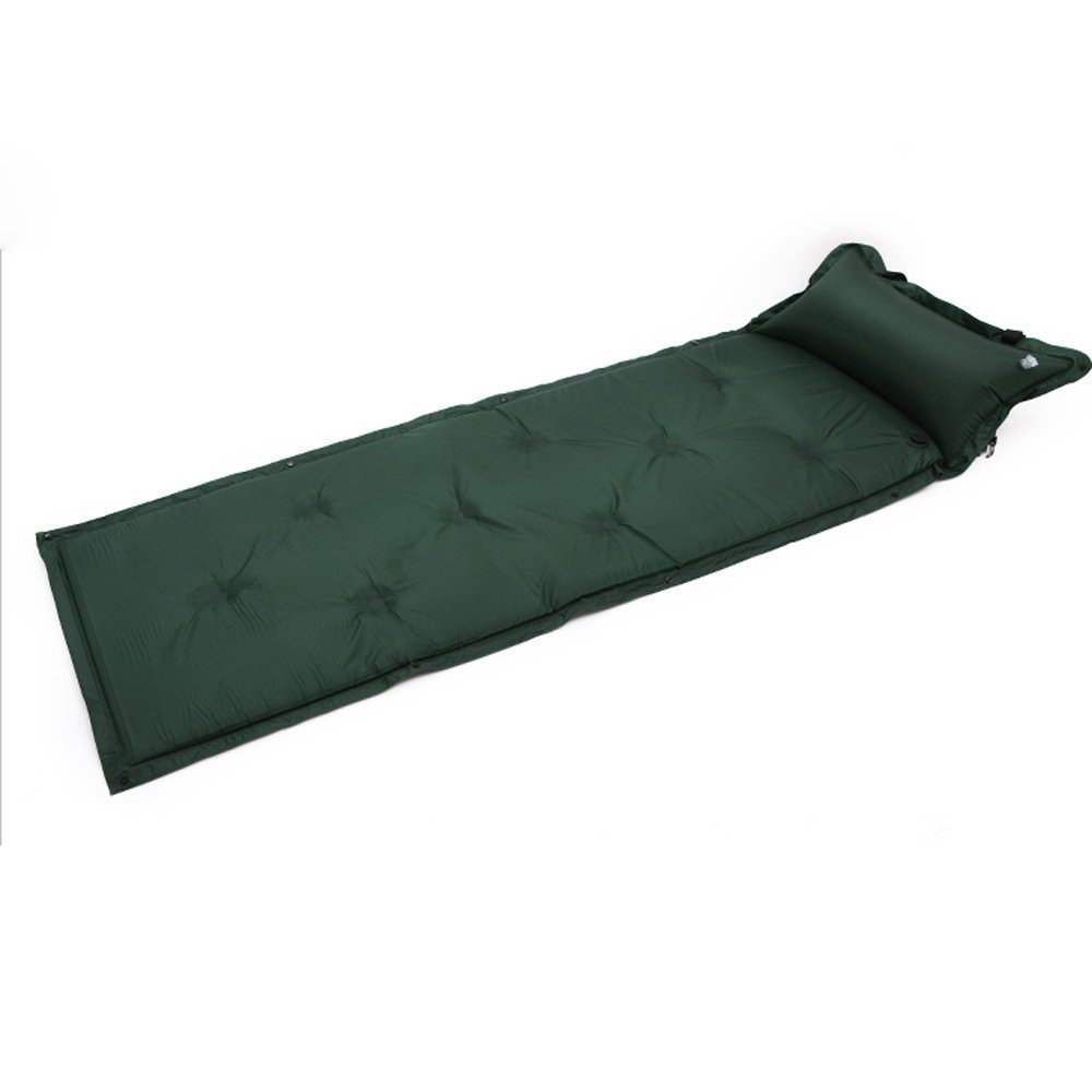 Waterproof Automatic Inflatable Self-Inflating Damp Proof Sleeping Pad Tent Air Mat Mattress with Pillow for Outdoor Camping outdoor camping green blue splicing automatic inflatable mattress one person self inflating moistureproof tent mat with pillow