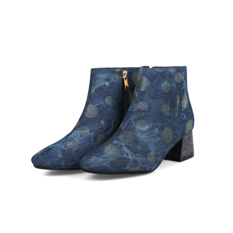 ... Short Boots Lady Shoes 2018 Winter New Style Fashion Blue 34-43. Heel  Height  1.8 inches( 4.5 cm). Material  Denim. 126 750 128 750 ... 21d04d404b06