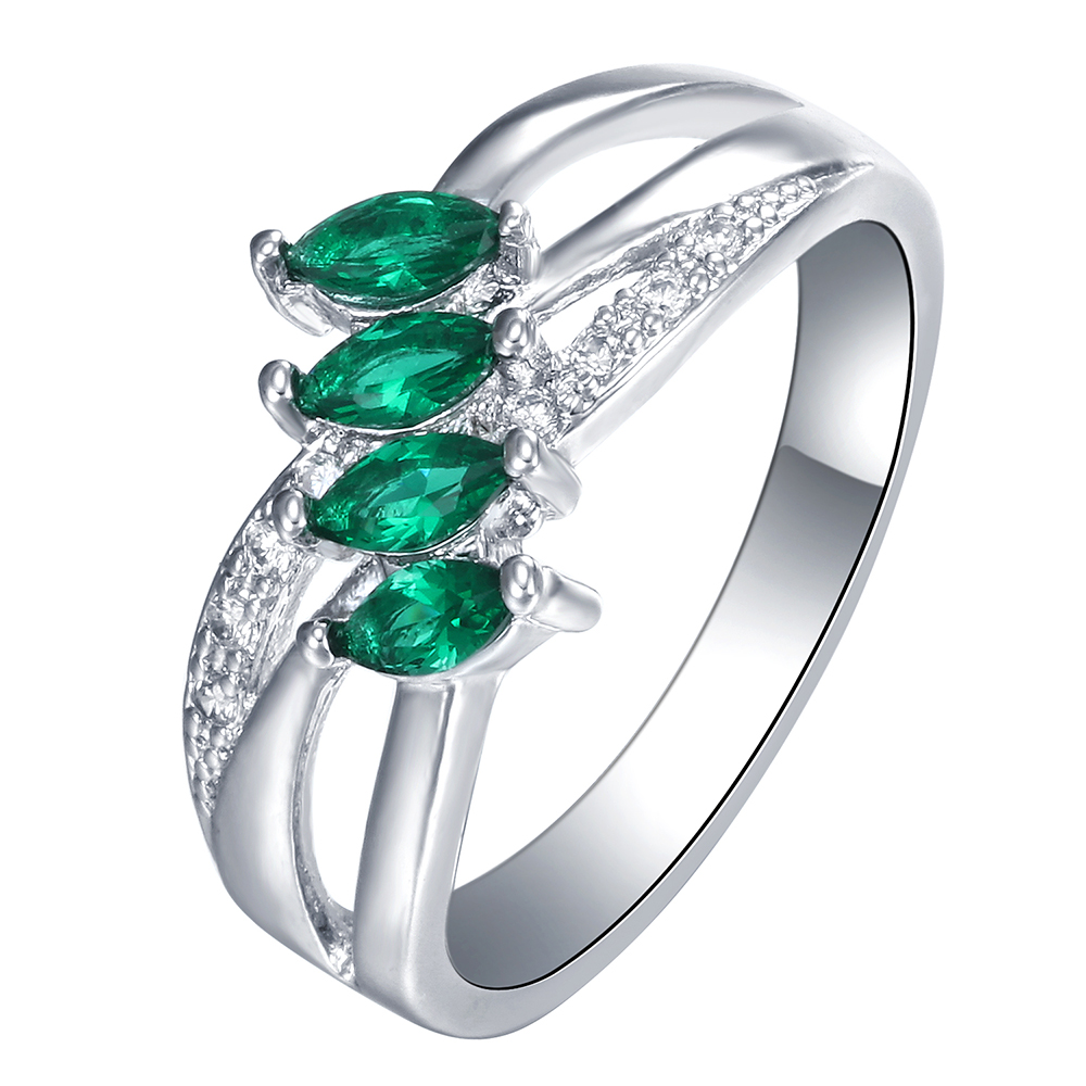 Most Popular Gifts For Women 2016 Part - 31: 2016 Most Popular Silver Plated Rings Us 7 8 9 New Green Cz Zircon Jewelry  Engagement